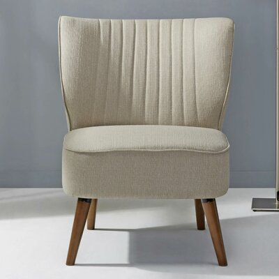 Schiavone Slipper Chair Upholstery: Latte