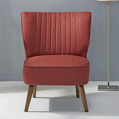 Schiavone Slipper Chair Upholstery: Rustic Red