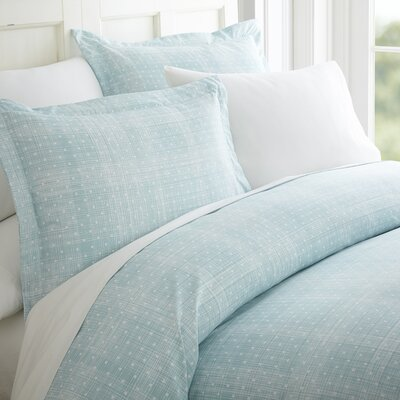 Schnabel Duvet Cover Set Color: Aqua, Size: King
