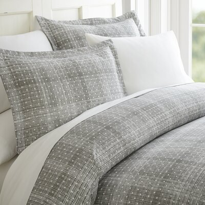 Schnabel Duvet Cover Set Color: Gray, Size: King