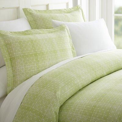 Schnabel Duvet Set Color: Moss, Size: Queen