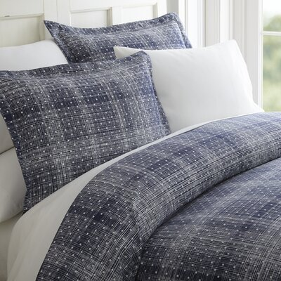 Schnabel Duvet Set Color: Navy, Size: King