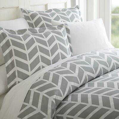 Schnabel Duvet Cover Set Color: Gray, Size: King