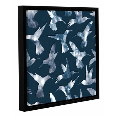 Hummingbirds Framed Graphic Art Size: 10