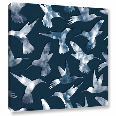 Hummingbirds Graphic Art on Wrapped Canvas