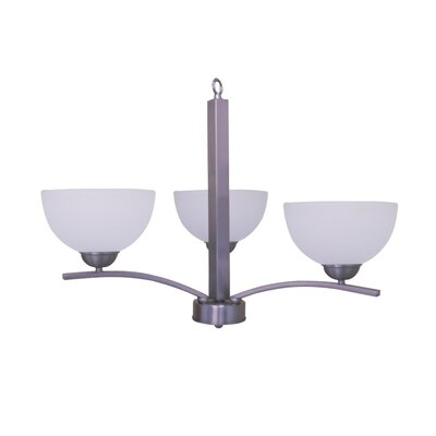 Babin 3-Light Shaded Chandelier Finish: Satin Steel
