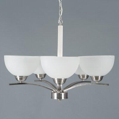 Babin 5-Light Shaded Chandelier Finish: Satin Steel