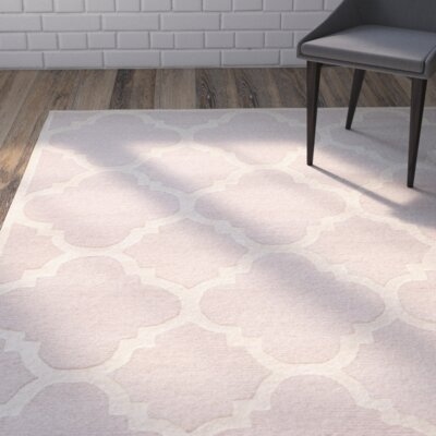 Charlenne Trellis Light Pink & Ivory Area Rug Rug Size: Rectangle 26 x 8