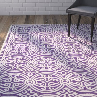 Fairburn Purple / Ivory Area Rug Rug Size: Rectangle 26 x 4