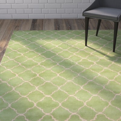 Chatham Green Geometric Wool Hand-Tufted Area Rug