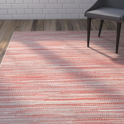 Juda Sand/Maroon Indoor/Outdoor Area Rug Rug Size: 53 x 76