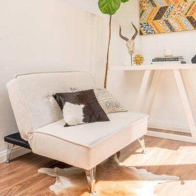 Babineau Convertible Sleeper Loveseat Upholstery: Ivory