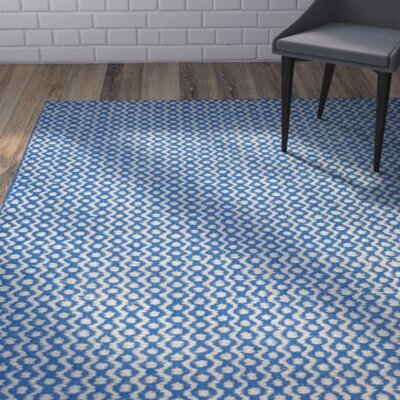 Russo Hand-Loomed Royal Blue Area Rug Rug Size: 3 x 5