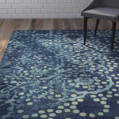 Stave Blue/Multi Area Rug Rug Size: Rectangle 2 x 3