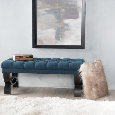 Beene Upholstered Bench Upholstery Color: Dark Blue