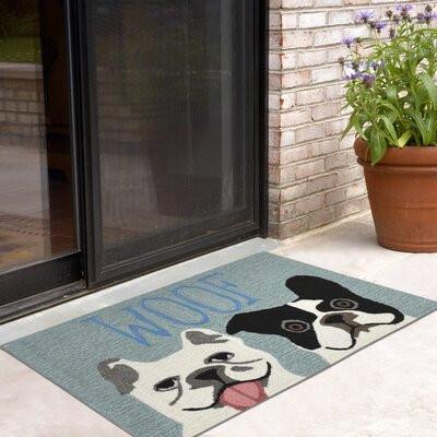 Seavey Le Woof Indoor/Outdoor Door Mat Rug Size: 18 x 26