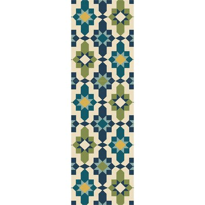 West Hill Multi-Colored Indoor/Outdoor Area Rug Rug Size: Runner 26 x 8