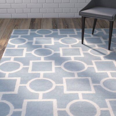 Wilkin Blue / Ivory Rug Rug Size: Rectangle 89 x 12