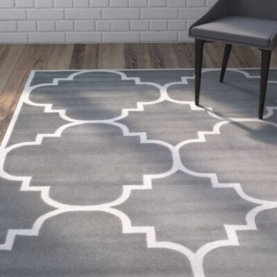 Wilkin Dark Grey & Ivory Area Rug Rug Size: Square 4