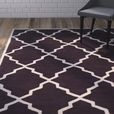 Wilkin Dark Purple Moroccan Rug Rug Size: Rectangle 8 x 10