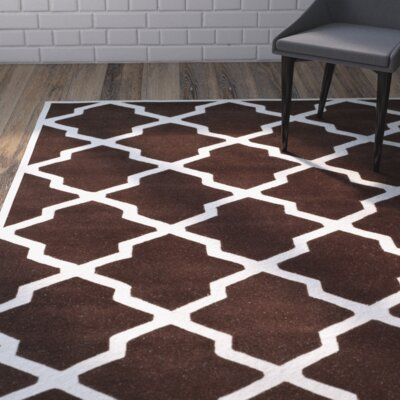Wilkin Dark Brown / Ivory Rug Rug Size: Rectangle 8' x 10'