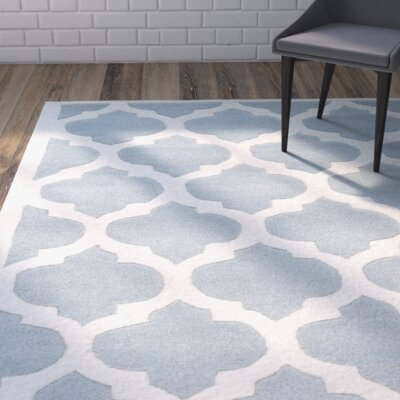 Wilkin Blue & Ivory Moroccan Area Rug