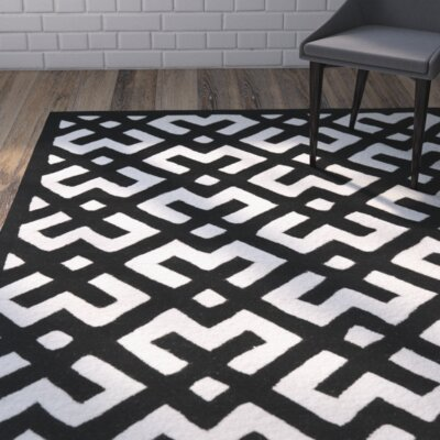 Wilkin Ivory / Black Rug Rug Size: Rectangle 8 x 10