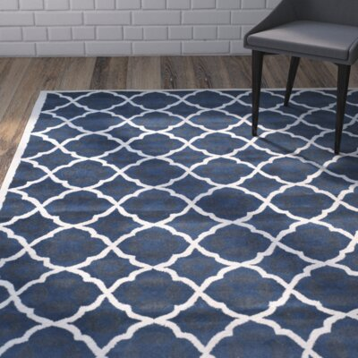Wilkin Blue/Ivory Moroccan Area Rug Rug Size: Rectangle 5 x 8