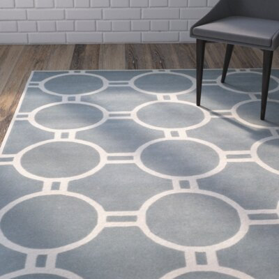 Wilkin Blue / Ivory Rug Rug Size: Rectangle 5 x 8