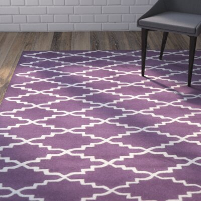 Wilkin Purple / Ivory Rug Rug Size: Rectangle 2' x 3'