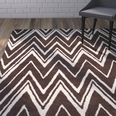 Martins Brown Area Rug Rug Size: 4 x 6