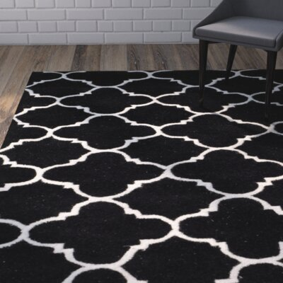 Wilkin Black / Ivory Rug Rug Size: Rectangle 3 x 5
