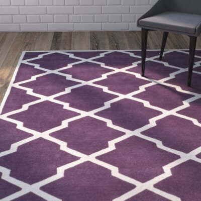 Wilkin Purple / Ivory Rug Rug Size: Rectangle 3' x 5'