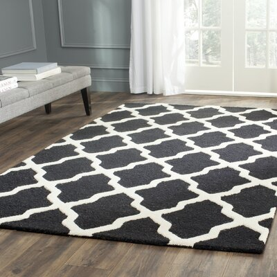 Martins Black & Ivory Area Rug Rug Size: Runner 26 x 6