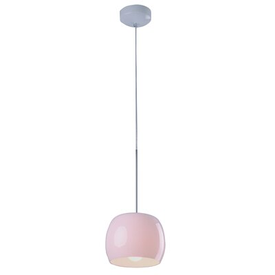 Knighten 1-Light Pendant Glass Color: White Gloss