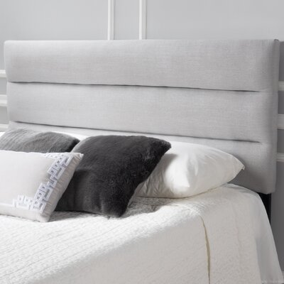 Knisely Full Upholstered Panel Headboard Color: Light Gray