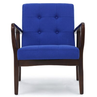 Knopf Arm Chair Upholstery: Navy Blue