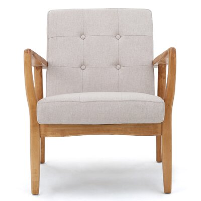 Knopf Arm Chair Upholstery: Medium Beige