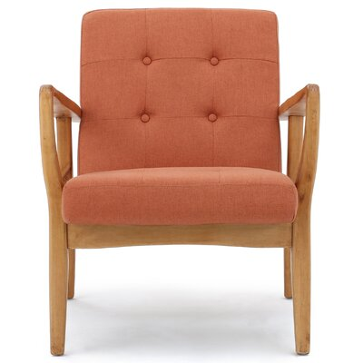 Knopf Arm Chair Upholstery: Orange