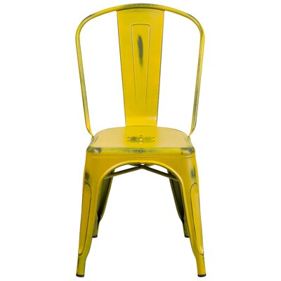 Sigler 33.5 Side Chair Finish: Distressed Yellow