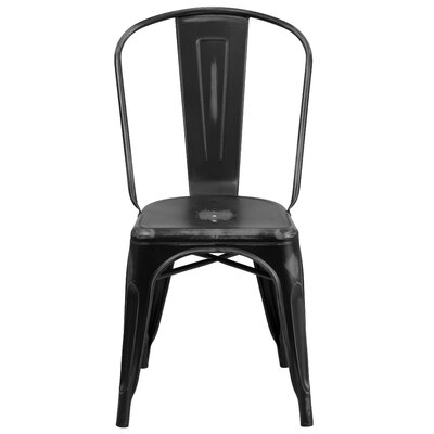 Sigler 33.5 Side Chair Finish: Distressed Black