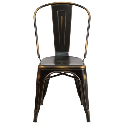 Sigler 33.5 Side Chair Finish: Distressed Copper