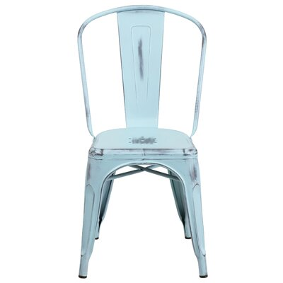 Sigler 33.5 Side Chair Finish: Distressed Green-Blue