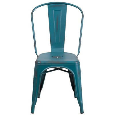 Sigler 33.5 Side Chair Finish: Kelly Blue