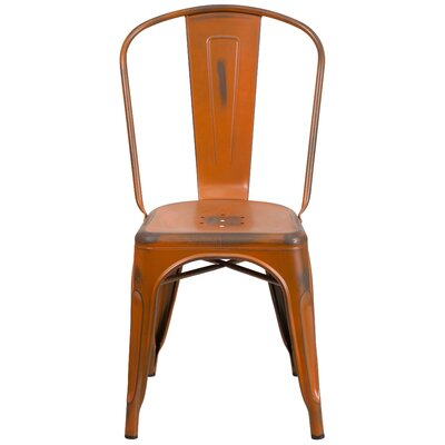 Sigler 33.5 Side Chair Finish: Distressed Orange