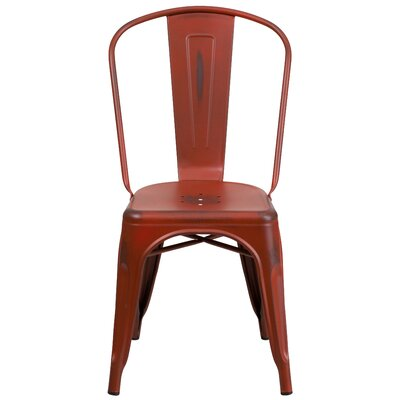 Sigler 33.5 Side Chair Finish: Distressed Kelly Red