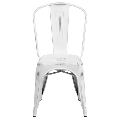 Sigler 33.5 Side Chair Finish: Distressed White