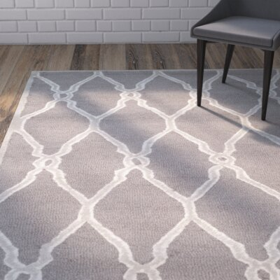 Martins Dark Grey / Ivory Area Rug Rug Size: 10 x 14
