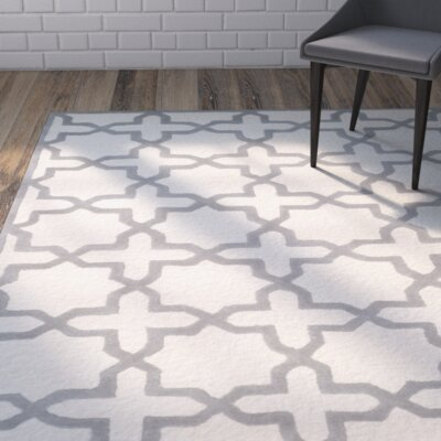 Martins Ivory / Silver Area Rug Rug Size: Runner 26 x 8