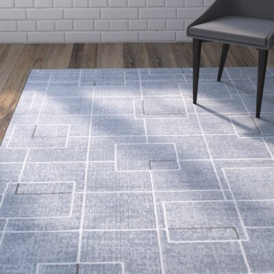 Mcdowell Blue Area Rug Rug Size: Rectangle 2 x 3